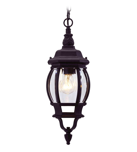 Livex Lighting Frontenac 1 Light Outdoor Hanging Lantern in Black 7523-04 photo