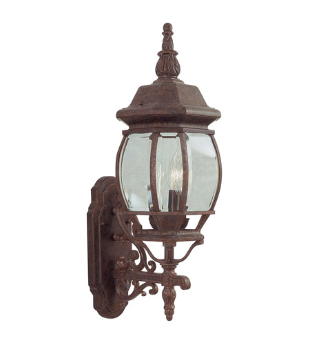 Livex Lighting Frontenac 3 Light Outdoor Wall Lantern in Weathered Brick 7524-18 photo