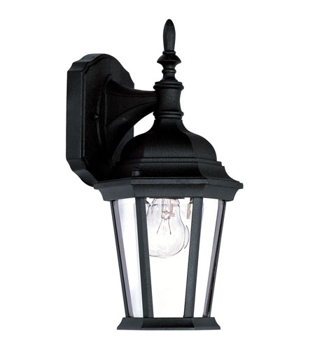 Livex Lighting Hamilton 1 Light Outdoor Wall Lantern in Black 7550-04 photo