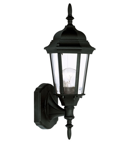 Livex Lighting Hamilton 1 Light Outdoor Wall Lantern in Black 7551-04 photo