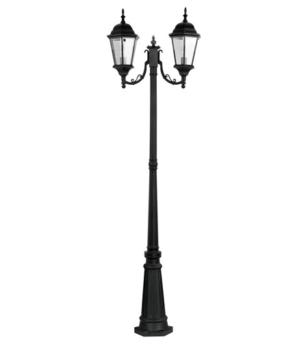 Livex Lighting Hamilton 2 Light Outdoor Post With Lights in Black 7554-04 photo