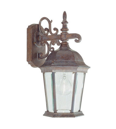 Livex Lighting Hamilton 1 Light Outdoor Wall Lantern in Weathered Brick 7555-18 photo