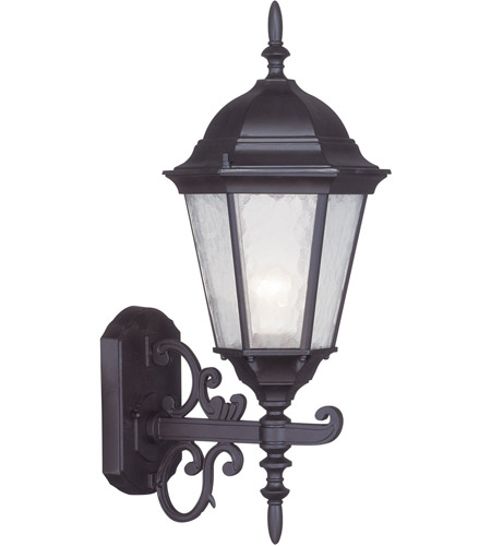Livex Lighting Hamilton 1 Light Outdoor Wall Lantern in Bronze 7556-07 photo