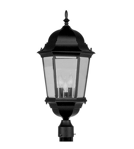 Industrial Lighting Hamilton: Livex Lighting Hamilton 3 Light Outdoor Post Head In Black