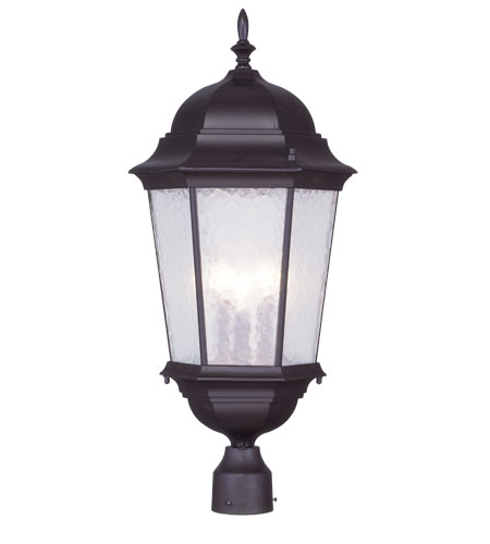 Livex Lighting Hamilton 3 Light Outdoor Post Head in Bronze 7568-07 photo