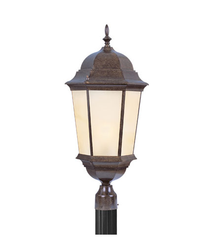 Livex Hamilton 3 Light Outdoor Post Head in Moroccan Gold 7568-50 photo