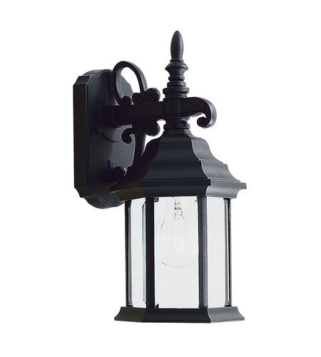 Livex Lighting Barrington 1 Light Outdoor Wall Lantern in Black 7570-04 photo