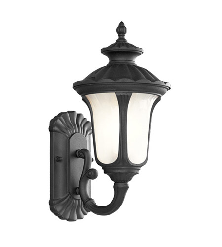 Livex Lighting Oxford 1 Light Outdoor Wall Lantern in Black 7650-04 photo