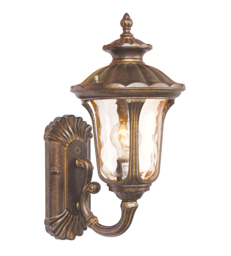 Livex Lighting Oxford 1 Light Outdoor Wall Lantern in Moroccan Gold 7650-50 photo