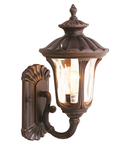 Livex 7650-58 Oxford 1 Light 16 inch Imperial Bronze Outdoor Wall Lantern photo