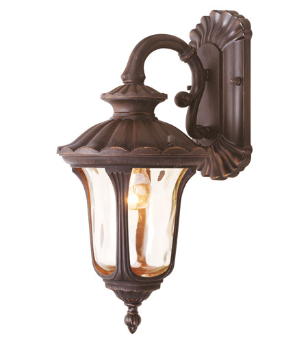 Livex 7651-58 Oxford 1 Light 16 inch Imperial Bronze Outdoor Wall Lantern photo