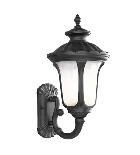 Livex Lighting Oxford 1 Light Outdoor Wall Lantern in Black 7652-04 photo