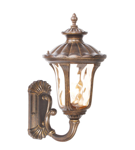 Livex 7652-50 Oxford 1 Light 18 inch Moroccan Gold Outdoor Wall Lantern photo