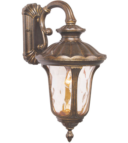 Livex 7653-50 Oxford 1 Light 19 inch Moroccan Gold Outdoor Wall Lantern photo