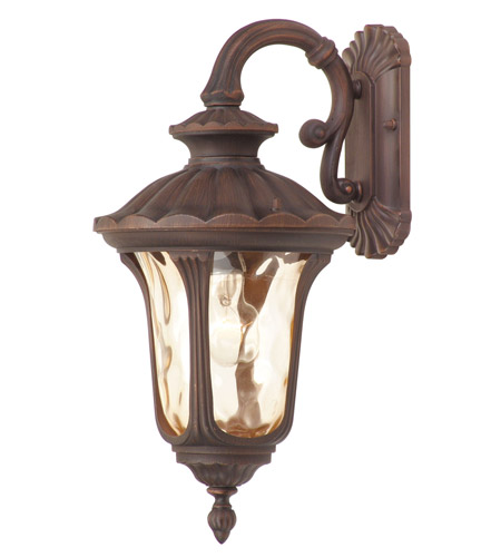 Livex Lighting Oxford 1 Light Outdoor Wall Lantern in Imperial Bronze 7653-58 photo