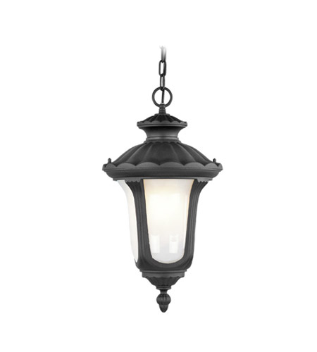 Livex Lighting Oxford 1 Light Outdoor Hanging Lantern in Black 7654-04 photo