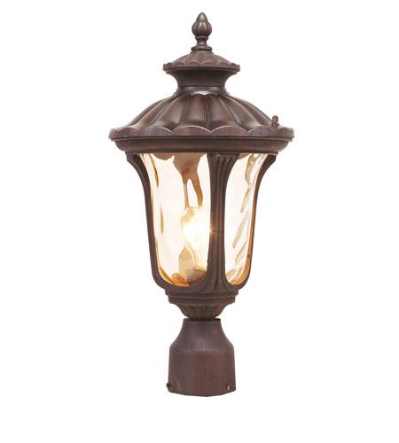Livex Lighting Oxford 1 Light Outdoor Post Head in Imperial Bronze 7655-58 photo