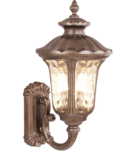 Livex Lighting Oxford 1 Light Outdoor Wall Lantern in Moroccan Gold 7656-50 photo