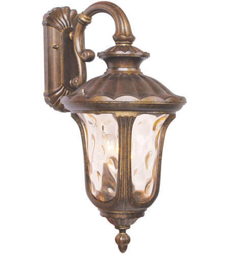 Livex 7657-50 Oxford 3 Light 22 inch Moroccan Gold Outdoor Wall Lantern photo