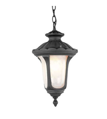 Livex Lighting Oxford 1 Light Outdoor Hanging Lantern in Black 7658-04 photo