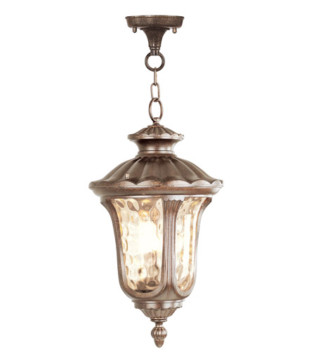 Livex Lighting Oxford 1 Light Outdoor Hanging Lantern in Moroccan Gold 7658-50 photo