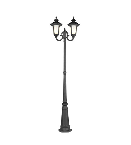 Livex Lighting Oxford 2 Light Outdoor Post With Lights in Black 7660-04 photo