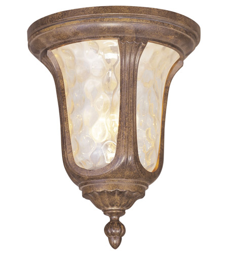 Livex Lighting Oxford 2 Light Outdoor Ceiling Mount in Moroccan Gold 7661-50 photo