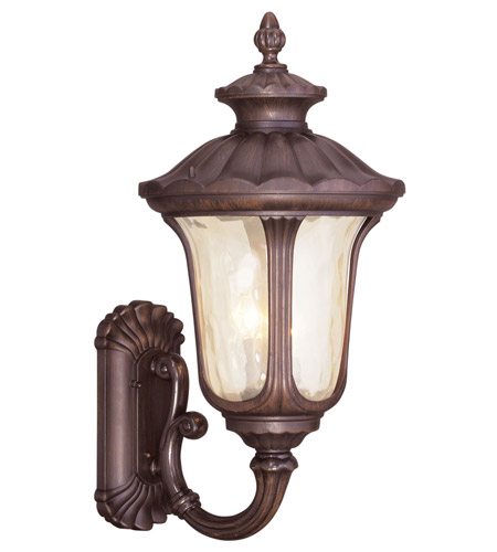 Livex 7662-58 Oxford 3 Light 28 inch Imperial Bronze Outdoor Wall Lantern photo