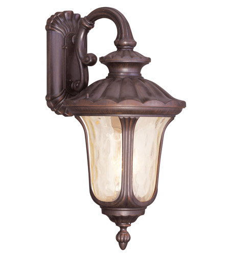 Livex Lighting Oxford 3 Light Outdoor Wall Lantern in Imperial Bronze 7663-58 photo