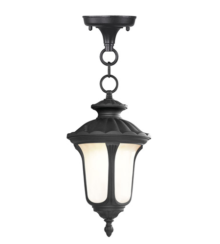 Livex Lighting Oxford 1 Light Outdoor Hanging Lantern in Black 7668-04 photo
