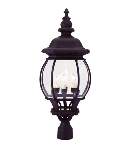 Livex 7703-04 Frontenac 4 Light 28 inch Black Outdoor Post Head photo