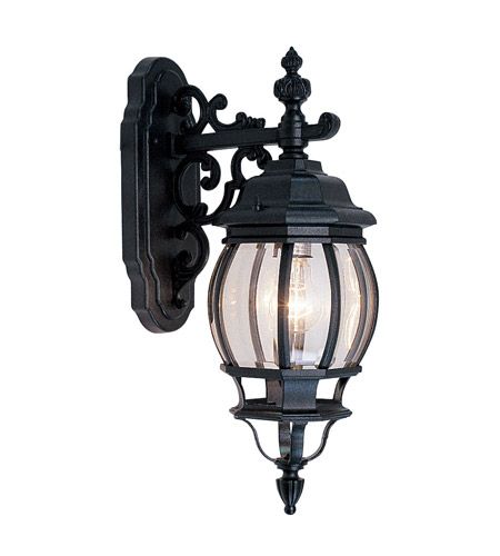 Livex 7706-04 Frontenac 1 Light 20 inch Black Outdoor Wall Lantern photo