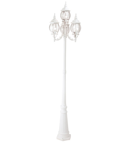Livex Lighting Frontenac 4 Light Outdoor Post With Lights in White 7711-03 photo