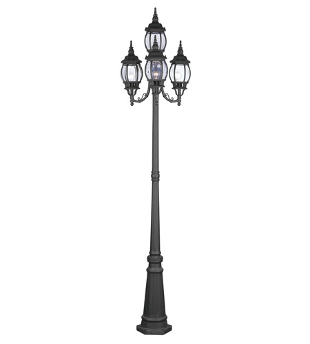 Livex 7711-04 Frontenac 4 Light 93 inch Black Outdoor Post With Lights photo