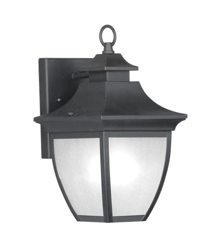 Livex Hillsdale 1 Light Outdoor Wall Lantern in Black 7720-04 photo