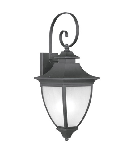 Livex Lighting Hillsdale 1 Light Outdoor Wall Lantern in Black 7723-04 photo