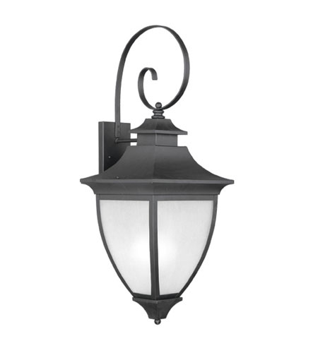 Livex Lighting Hillsdale 1 Light Outdoor Wall Lantern in Black 7727-04 photo