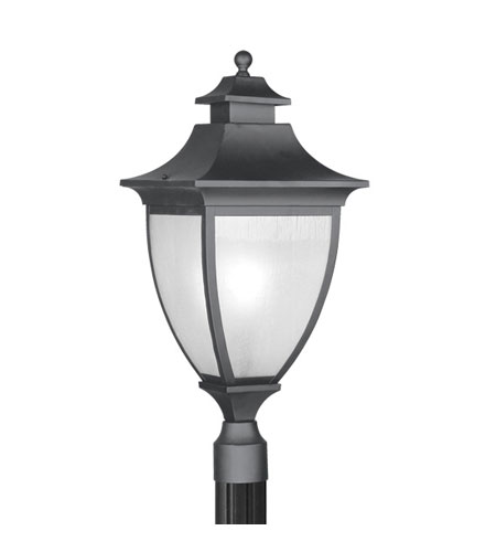 Livex Lighting Hillsdale 1 Light Outdoor Post Head in Black 7729-04 photo