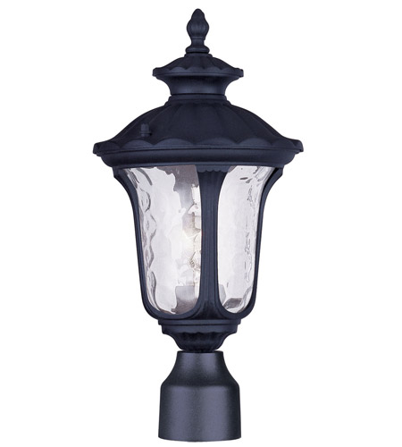 Livex Lighting Oxford 1 Light Outdoor Post Head in Black 7848-04 photo