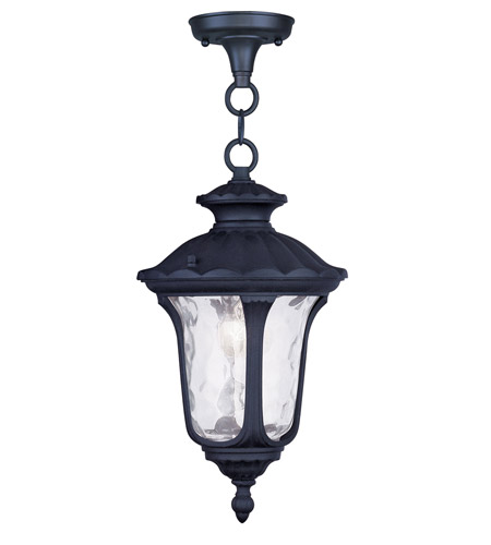 Livex 7849-04 Oxford 1 Light 7 inch Black Outdoor Hanging Lantern photo