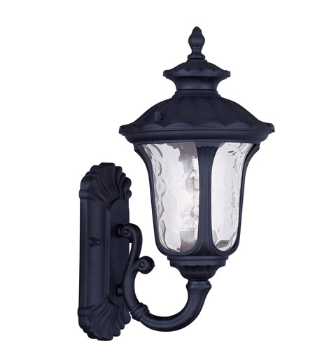Livex Lighting Oxford 1 Light Outdoor Wall Lantern in Black 7850-04 photo