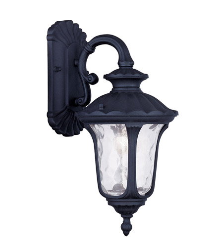 Livex 7851-04 Oxford 1 Light 16 inch Black Outdoor Wall Lantern photo