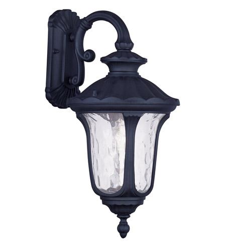 Livex Lighting Oxford 1 Light Outdoor Wall Lantern in Black 7853-04 photo