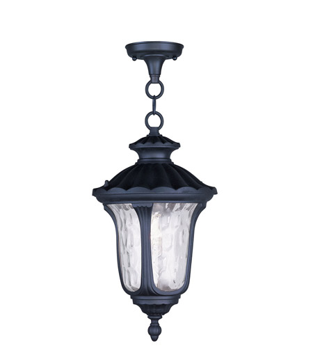 Livex 7854-04 Oxford 1 Light 10 inch Black Outdoor Hanging Lantern photo