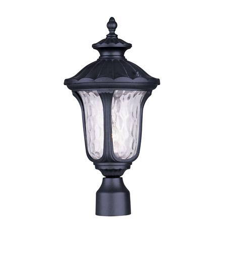 Livex Lighting Oxford 1 Light Outdoor Post Head in Black 7855-04 photo