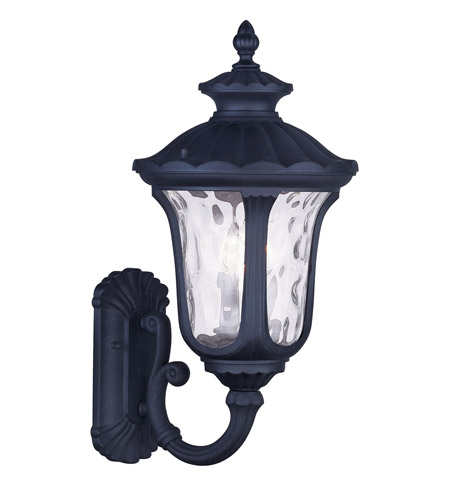 Livex Black Oxford Outdoor Wall Lights