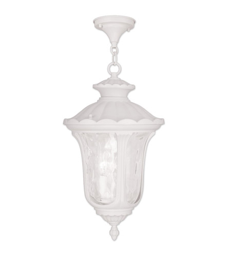 Livex 7858-03 Oxford 3 Light 11 inch White Outdoor Hanging Lantern photo thumbnail