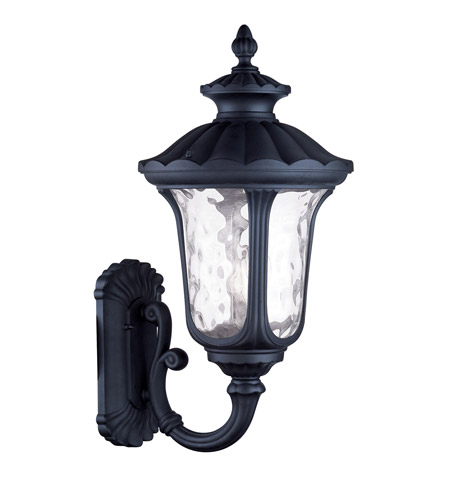 Livex 7862-04 Oxford 3 Light 28 inch Black Outdoor Wall Lantern photo