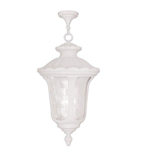 Oxford 3 Light 14 Inch White Outdoor Hanging Lantern