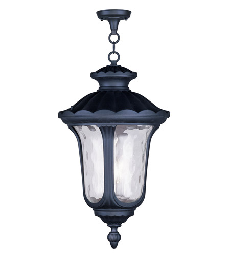 Livex 7865-04 Oxford 3 Light 14 inch Black Outdoor Hanging Lantern photo